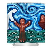 Walking On Water 2 Shower Curtain by Patrick J Murphy