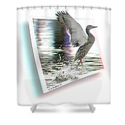 Walking On Water - Use Red-cyan 3d Glasses Shower Curtain