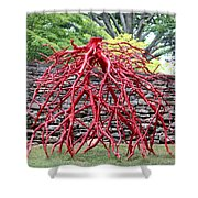 Walking Roots Sculpture 2 Shower Curtain