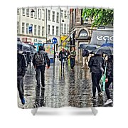 Walking Street Wet Down Shower Curtain