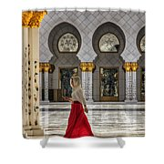 Walking Temple Shower Curtain