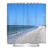 Walking The Beach At Sanibel. Shower Curtain