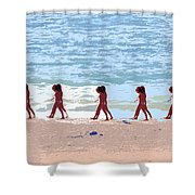 Walking The Beach Shower Curtain