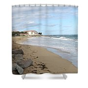 Walking The Beach In St Kitts Shower Curtain