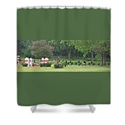 Walking The Course Shower Curtain