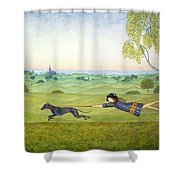 Walking The Dog  Shower Curtain