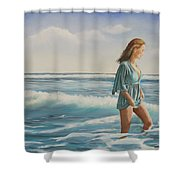 Walking The Surf Shower Curtain