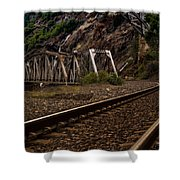 Walking The Tracks Shower Curtain