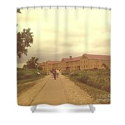 Walking Through History Shower Curtain