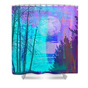 Walking Through The Forest Shower Curtain