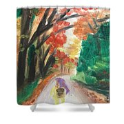 Walking Through The Woods Shower Curtain