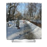Walking To Gether Shower Curtain