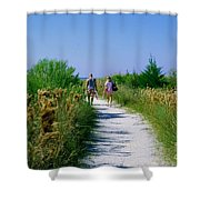 Walking To The Beach Shower Curtain
