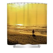 Walking With My Best Friend Shower Curtain