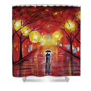 Walking With My Love Shower Curtain