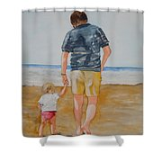 Walking With Pops Shower Curtain
