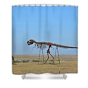 Walking Your T-rex Shower Curtain