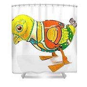 Walkingbird Shower Curtain