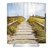 Walkpath To The Beach Shower Curtain