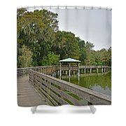 Walkway At Lake Dora Shower Curtain