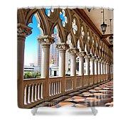 Walkway At The Venetian Hotel Shower Curtain
