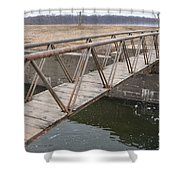 Walkway Over The Canal Shower Curtain