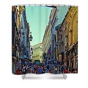 Walkway Over The Street - Lisbon Shower Curtain