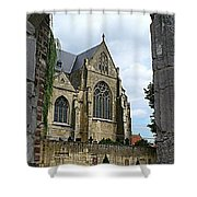 Walkway To Thorn Cathedral Shower Curtain
