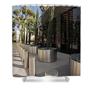 Walkway With Reflection Shower Curtain