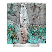Wall Abstract 118 Shower Curtain
