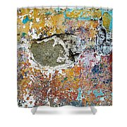 Wall Abstract 196 Shower Curtain