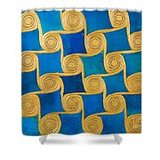 Wall Decoration From The Temple Of Amun At Malqata Shower Curtain