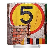 Wall Five Shower Curtain