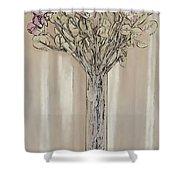 Wall Flower Decoration Shower Curtain