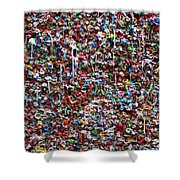 Wall Of Chewing Gum Seattle Shower Curtain