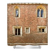 Wall Of Five Windows. Shower Curtain