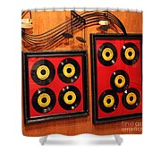 Wall Of Records Shower Curtain