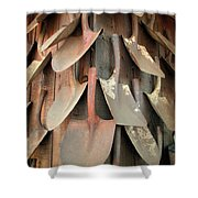 Wall Of Shovels Shower Curtain