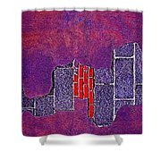 Wall Of Violet Textures Shower Curtain