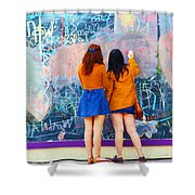 Wall Of Wishes Shower Curtain