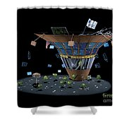 Wall St Martini Shower Curtain