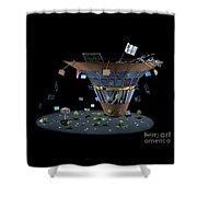 Wall St Martini Shower Curtain