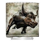 Wall Street Bull Viii Shower Curtain