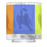Wall Street Bull Shower Curtain