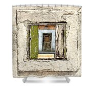 Wall, Window And Door Shower Curtain