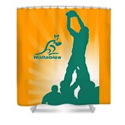 Wallabies Rugby Shower Curtain