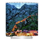 Walled City Shower Curtain