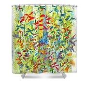 Wallflowers Shower Curtain
