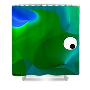 Wally Whale Shower Curtain