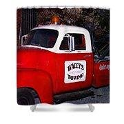 Wallys Service Truck Shower Curtain